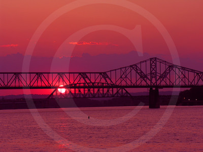 Louisville Bridge Sunset