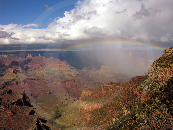 Rainbow at Grand Canyon National Park, Arizona, USA